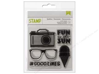 Rubber Stamping Craft & Hobbies: American Crafts Clear Stamps Summer Collection Good Times