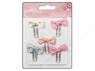 Cording Baby: Pebbles Embellishment Special Delivery Girl Paper Clip with Bow