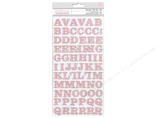 Thickers Alphabet Stickers Baby Girl Glitter Blush