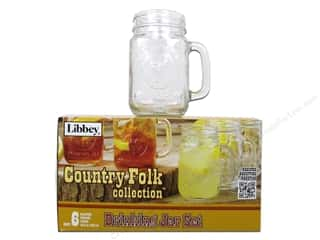 Cups & Mugs Flowers: Crisa by Libbey Glass Country Folk Drinking Jar (6 pieces)