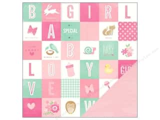 "Pebbles Inc ABC & 123: Pebbles Paper 12""x 12"" Special Delivery Girl It's A Girl (25 pieces)"