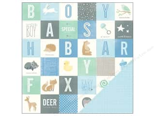 "Pebbles Inc ABC & 123: Pebbles Paper 12""x 12"" Special Delivery Boy It's A Boy (25 pieces)"