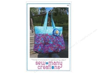 Sew Many Creations Fat Quarters Patterns: Sew Many Creations Getaway XL Tote Pattern