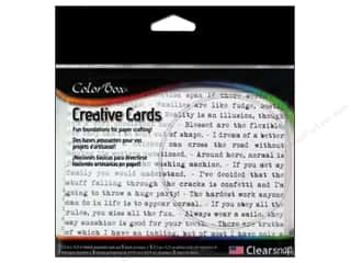 Weekly Specials Inkadinkado Stamping Gear: ColorBox Creative Cards and Envelopes Humor