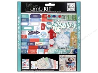 "Scrapbooking Stickers: Me&My Big Ideas Kit Scrapbook 8""x 8"" Ahoy"
