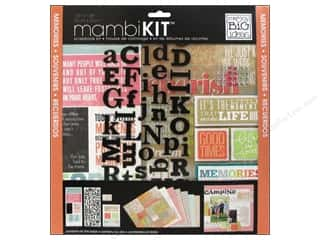 "Brads Scrapbooking Kits / Page Kits: Me&My Big Ideas Kit Scrapbook 12""x 12"" Inspiration Quotes"
