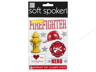 2013 Crafties - Best Adhesive: MAMBI Sticker Soft Spoken Proud To Be Firefighter