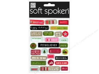Holiday Gift Idea Sale: Me&My Big Ideas Sticker Soft Spoken Merry Pebbles