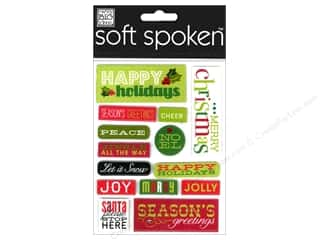 2013 Crafties - Best Adhesive: MAMBI Sticker Soft Spoken Happy Holidays Lg Pebble
