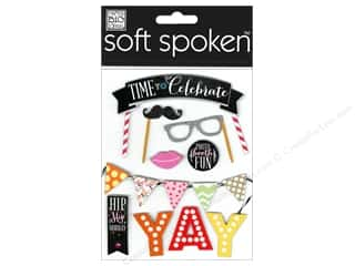 Sewing & Quilting Party & Celebrations: Me&My Big Ideas Sticker Soft Spoken Time To Celebrate