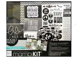 "Scrapbooking Sale Me & My Big Ideas Kits: Me&My Big Ideas Album Kit Box 12""x 12"" Pocket Pages BW Life Is Good"