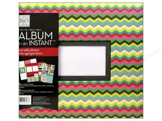 "Mother's Day Gift Ideas $5 - $10: Me&My Big Ideas Scrapbook Album 12""x 12"" In An Instant Family Chevron"
