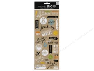Staple Clear: Me&My Big Ideas Sticker Sticks Doodle Words On An Adventure