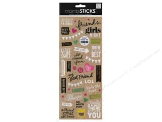 Me & My Big Ideas MAMBI Sticker Chipboard: Me&My Big Ideas Sticker Sticks Doodle Words Best Friends