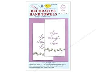"Stamped Goods 28"": Jack Dempsey Decorative Hand Towel Live Laugh Love 2pc"