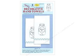 "Stamped Goods 28"": Jack Dempsey Decorative Hand Towel Mason Jar 2pc"