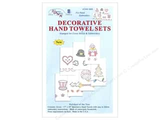 Clearance Blumenthal Favorite Findings: Jack Dempsey Deco Hand Towel Holidays of Year 7pc