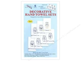 "Stamped Goods 28"": Jack Dempsey Decorative Hand Towel Mason Jar Day Week 7pc"