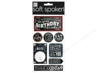 Rhinestones Birthdays: Me&My Big Ideas Sticker Soft Spoken Chalk Happy Birthday
