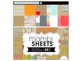 MAMBI Sheets Cdstk Pad 12x12 Inspirational Quotes