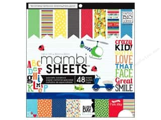 MAMBI Sheets Cdstk Pad 12x12 Cool Kid