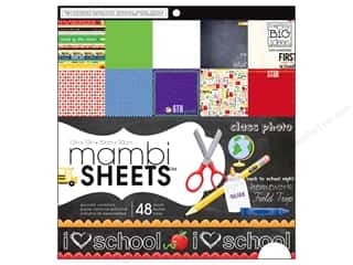 MAMBI Sheets Cdstk Pad 12x12 I Heart School