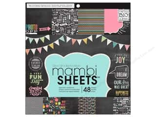Me & My Big Ideas Papers: Me & My Big Ideas Sheets Cardstock Pad 12 x 12 in. Chalkboard