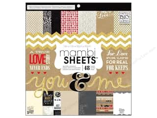 MAMBI Sheets Cdstk Pad 12x12 Craft You & Me Glittr
