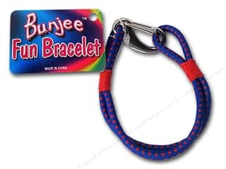 Cording Blue: Pepperell Bungee Cord Bracelet Red/Blue