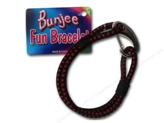 Bracelets Black: Pepperell Bungee Cord Bracelet Black/Red