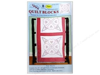 "square hoop: Jack Dempsey Quilt Blocks 18"" 6pc 4 Hearts"
