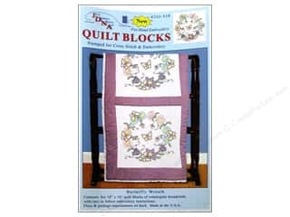 "Jack Dempsey Quilt Blocks 18"" 6pc Butterfly Wreath"