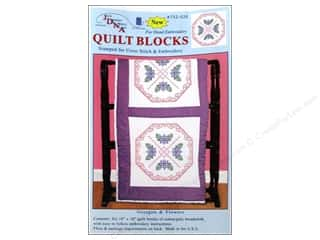 "Jack Dempsey Quilt Blocks 18"" 6pc Octagon & Flower"