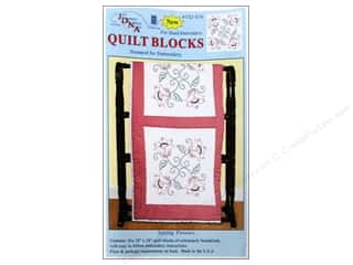 "square hoop: Jack Dempsey Quilt Blocks 18"" 6pc Spring Flowers"