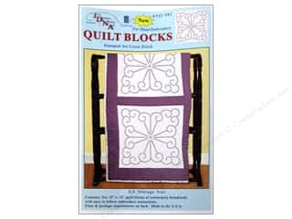 "square hoop: Jack Dempsey Quilt Blocks 18"" 6pc XX VintageDesign"