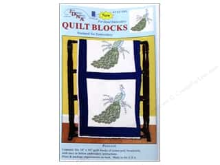 "Jack Dempsey Quilt Blocks 18"" 6pc Peacock"