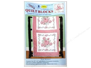 "Stamped Goods Pink: Jack Dempsey Quilt Blocks 18"" 6pc Rose Bouquet"