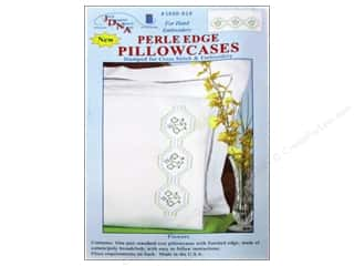 Jack Dempsey Pillowcase Perle Edge White Flowers