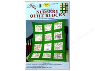 Stamped Goods $10 - $15: Jack Dempsey Nursery Quilt Block 12pc Noah's Ark
