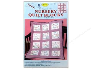 Stamped Goods Baby: Jack Dempsey Nursery Quilt Block 12pc Sunbonnet Sue