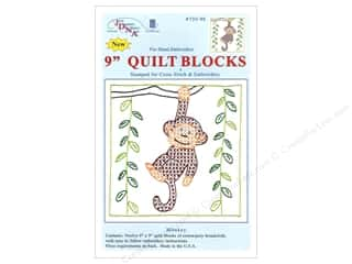 Jack Dempsey 9 in. Quilt Blocks 12 pc. Monkey