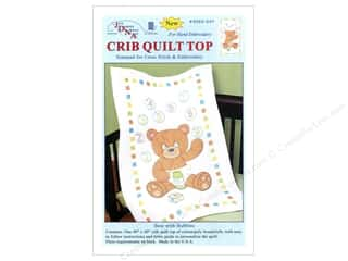 Jack Dempsey Quilt Top Crib Bears With Bubbles