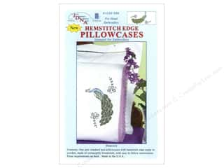 Pillow Shams Jack Dempsey Pillowcase Hemstitched White: Jack Dempsey Pillowcase Hemstitched White Peacock