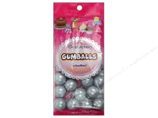 Sweet Works 20mm: SweetWorks Celebration Gumballs 8oz Silver