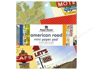 "Vacations Clearance: Paper House Paper Pad 6"" American Road"