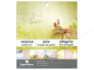 "Religious Subjects $4 - $6: Paper House Paper Pad 6"" Rejoice"