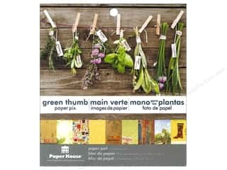 "Paper House Paper Pad 6"" Green Thumb"