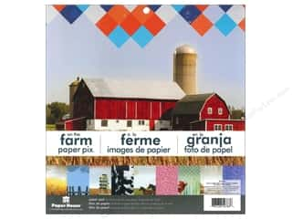 "Farms Clearance Patterns: Paper House Paper Pad 12"" Farm"