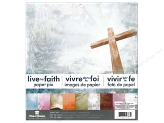 "Paper House All-American Crafts: Paper House Paper Pad 12"" Live By Faith"