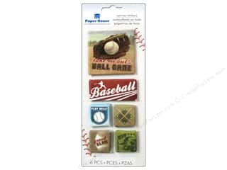 Paper House Sticker Canvas Baseball
